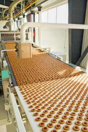production cookie in factory Stock Photo - 16478270