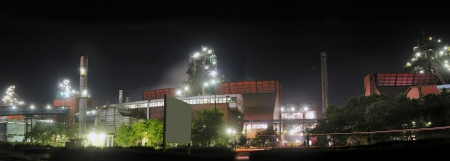 steel plant at night  photo