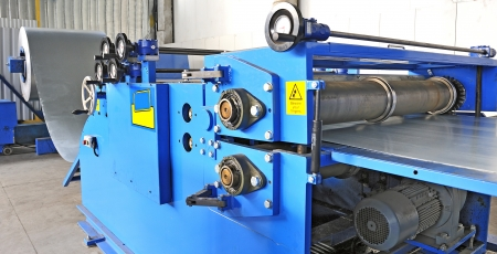 machine for rolling steel sheet in warehouse Stock Photo - 20778118