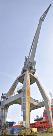 payload:  Naval crane Stock Photo