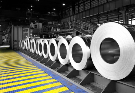 rolls of steel sheet Stock Photo - 20778129