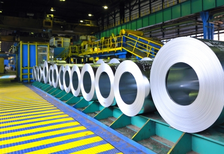 steel sheet: rolls of steel sheet