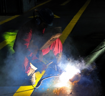 welding with mig mag method Stock Photo - 20778001