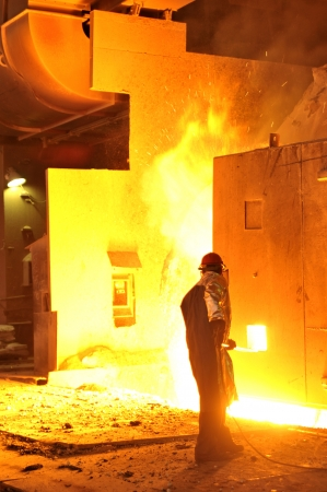 worker with hot steel Stock Photo - 20778008