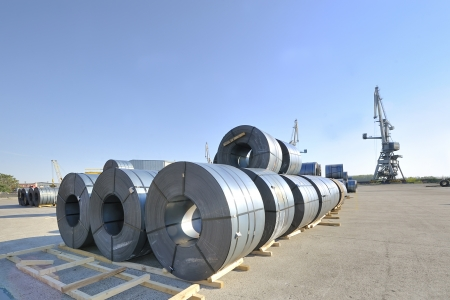 packed rolls of steel sheet Stock Photo - 16475149