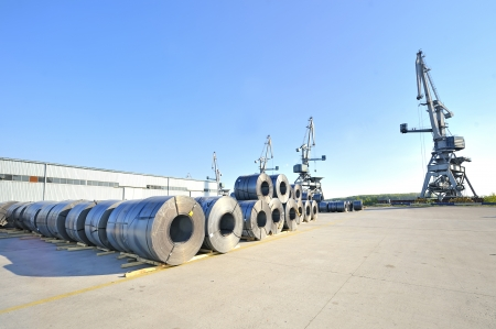 packed rolls of steel sheet Stock Photo - 16476585