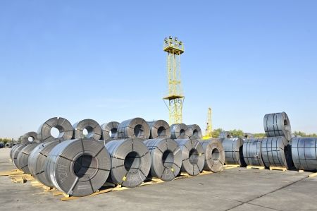 rolls of steel sheet Stock Photo - 16476680