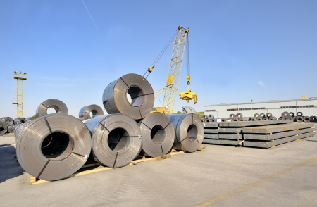 packed rolls and plate of steel sheet photo