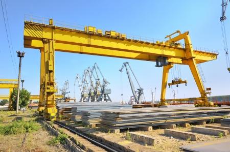 steel stack in harbor Stock Photo - 16480193