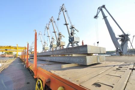 steel sheet cargo on railway Stock Photo - 16477557