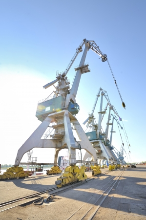 Port cranes  Stock Photo - 16477710