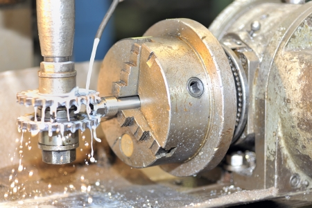 Turning lathe in action Stock Photo - 16476776