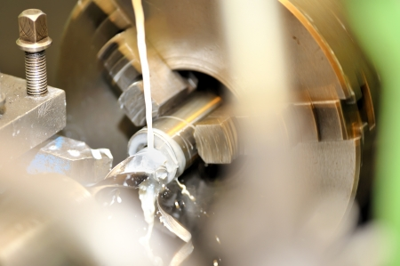 Turning lathe in action Stock Photo - 16475593