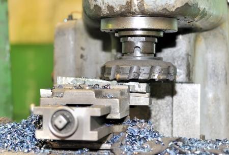 Turning lathe in action Stock Photo - 16476800