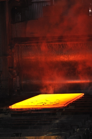 hot steel sheet photo