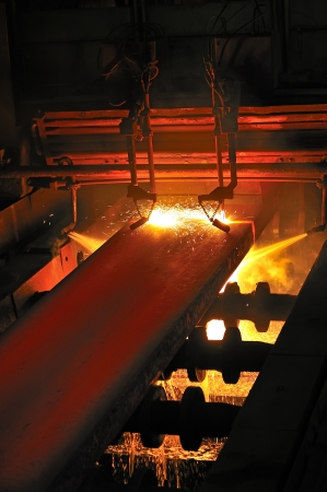 molted: Gas cutting of the hot metal