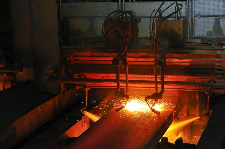 Gas cutting of the hot metal Stock Photo - 16478123