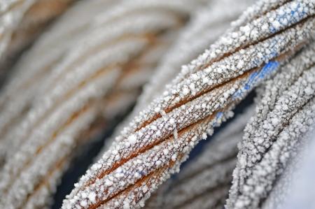 mooring: frozen ship cable
