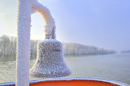 frozen ship bell in winter time Stock Photo - 16477744