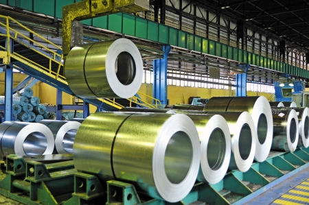 role: rolls of steel sheet