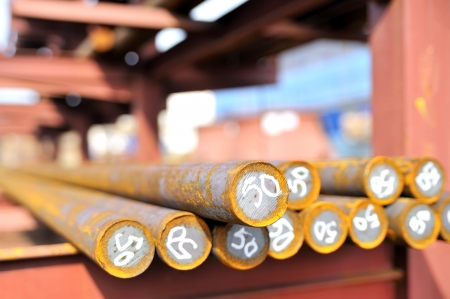 steel bars in a pile Stock Photo - 16475192