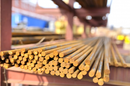 steel bars in a pile Stock Photo - 16477857