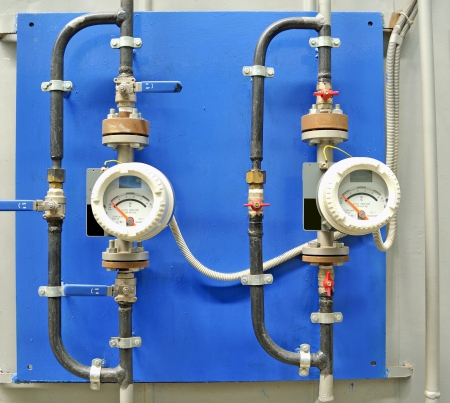 Connection detail of gas measurement and pipe Stock Photo - 16475069
