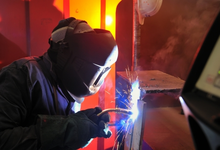 welding with mig-mag method Stock Photo - 16473664