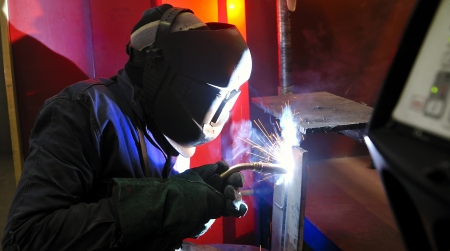 welding with mig-mag method Stock Photo - 16473984