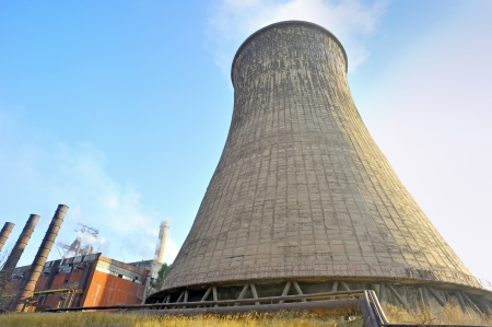 contaminacion del agua: torre de enfriamiento