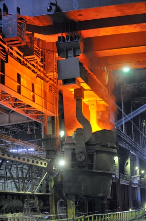 blastfurnace: hot molten steel