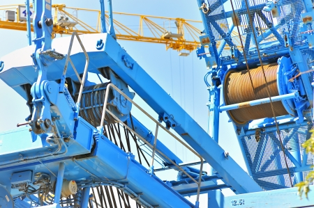 browncoal: crane detail Stock Photo
