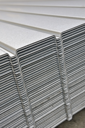 wave corrugated steel sheet Stock Photo - 16478476