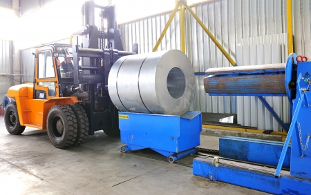machine for rolling steel sheet in warehouse Stock Photo - 16478642