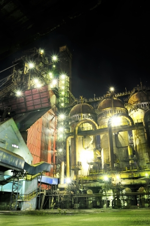 steel plant at night Stock Photo - 16425350