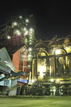 steel plant at night  Stock Photo - 16425355