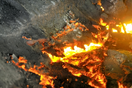 pouring molten steel  photo