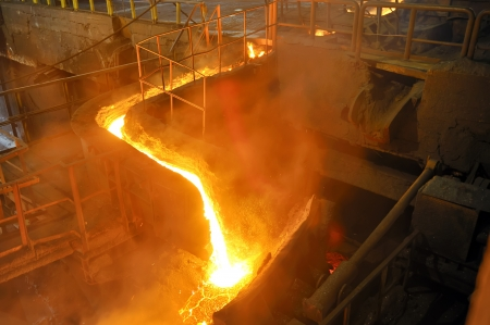 pouring molten steel Stock Photo - 16477463