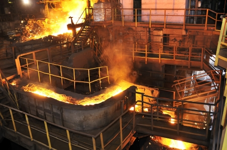 pouring molten steel  Stock Photo - 16478344