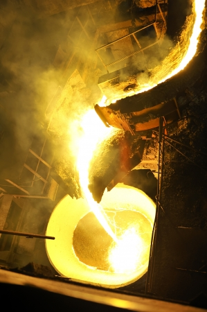Molten hot steel pouring Stock Photo - 16477560