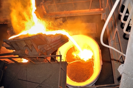 pouring molten steel Stock Photo - 16480395