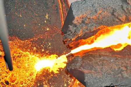 pouring molten steel Stock Photo - 16479874