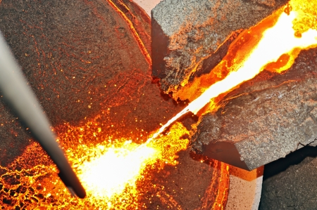 pouring molten steel Stock Photo - 16480300