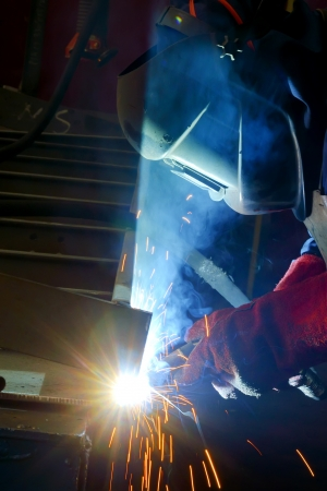 welding with mig-mag method Stock Photo - 16475338