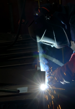 welding with mig-mag method Stock Photo - 16474585