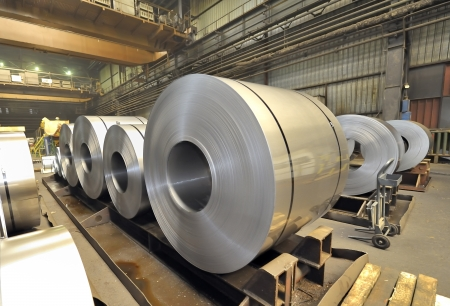 steel sheet: stack of rolls