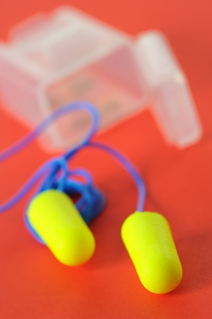 ear plugs isolated Stock Photo - 16474177