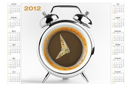 hot coffees: calendar 2012  still life Stock Photo