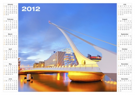 calendar 2012 architecture Stock Photo - 16478756