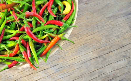 Chili Peppers in bowl  Stock Photo - 16477589